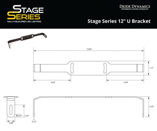 "Stage Series 12"" U Bracket"