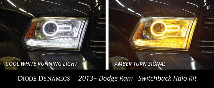 2013-2018 Dodge Ram Projector Style Switchback LED Halos
