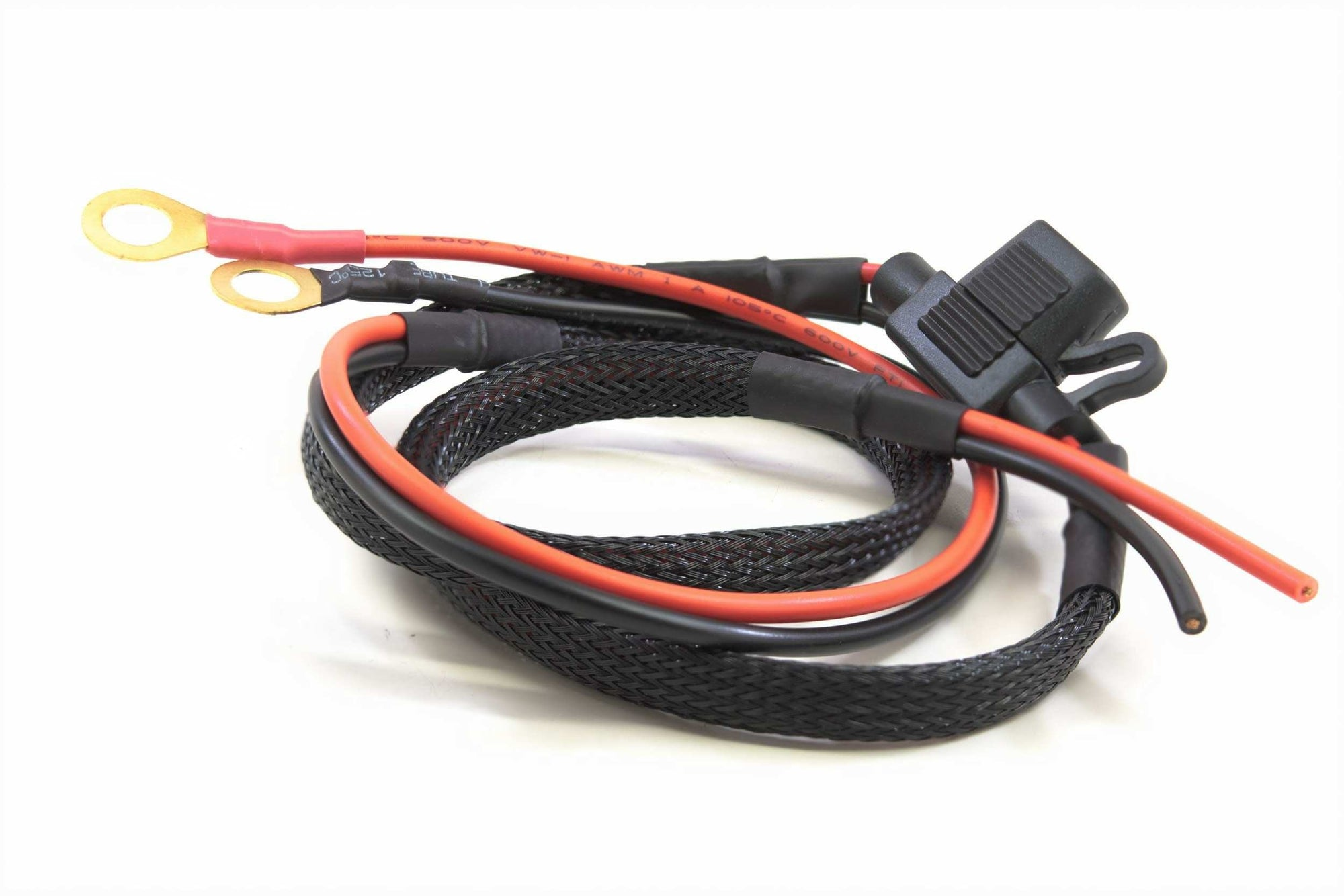 Fused Power Harness W/Terminals (12v +/-)