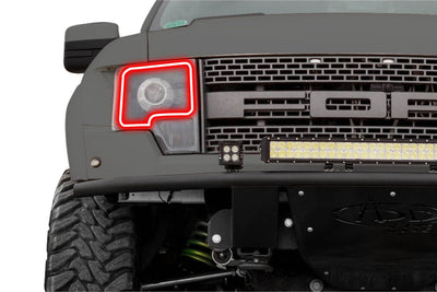 FORD F150 HALOGEN (09-14): PROFILE PRISM FITTED HALOS (RGB)