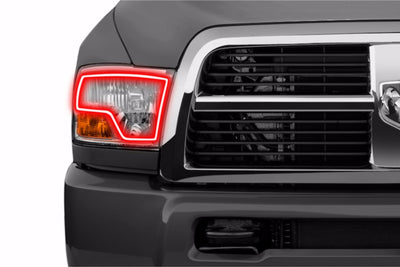 DODGE RAM DUAL STYLE (09-12): PROFILE PRISM FITTED HALOS (RGB)