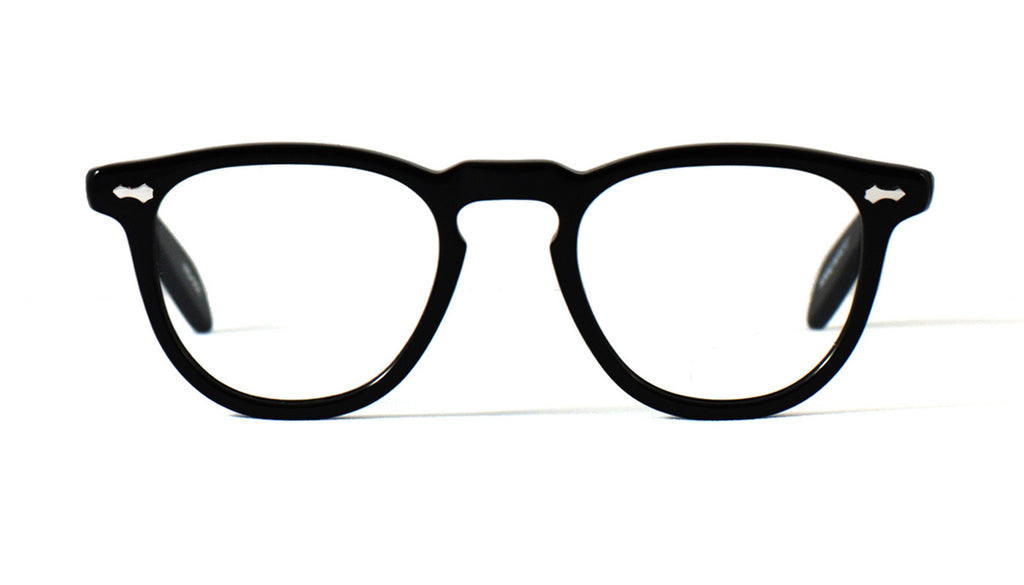 james dean eyeglass frames fairmount black front view cult eyewear