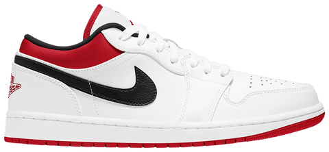 Air Jordan 1 Low White University Red Black