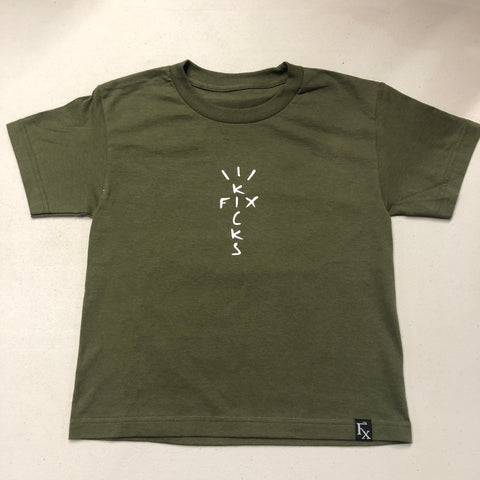 "The Fix ""Look Mom I'm Fly"" Olive Shirt Youth"