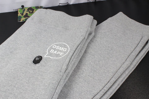 "A Bathing Ape Bape X DSMG Sweatpants ""Grey"""