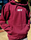 "The Fix Pullover Hoodie ""Script"" Maroon/White 2019"