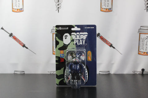 Medicom Toy Bearbrick X A Bathing Ape 1st Camo Shark Navy