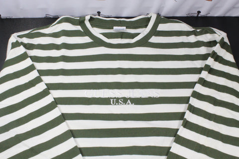 Guess Olive Stripes Long Sleeve Shirt