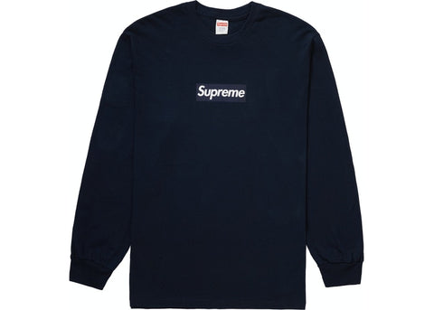 Supreme Box Logo L/S Tee Navy