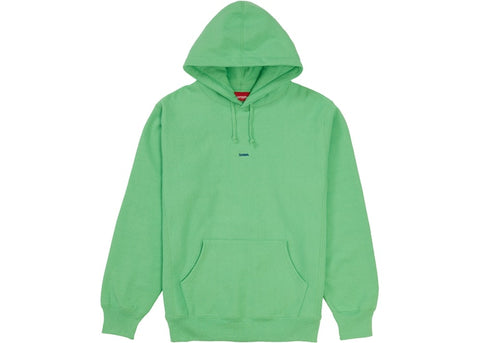 "Supreme Micro Logo Hooded Sweatshirt ""Bright Green"""