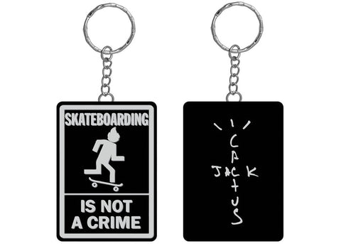Travis Scott Not A Crime Keychain Black