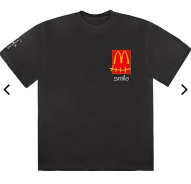Travis Scott x McDonalds Smile Tee Black