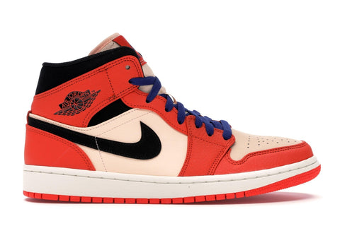 Air Jordan 1 Mid Team Orange Black