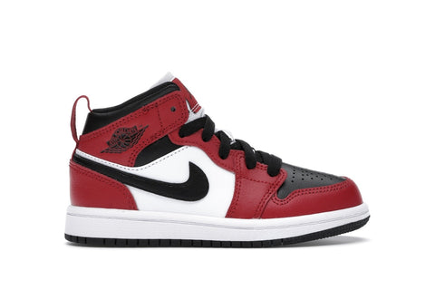 "Air Jordan 1 Mid ""Chicago Toe"" (PS)"