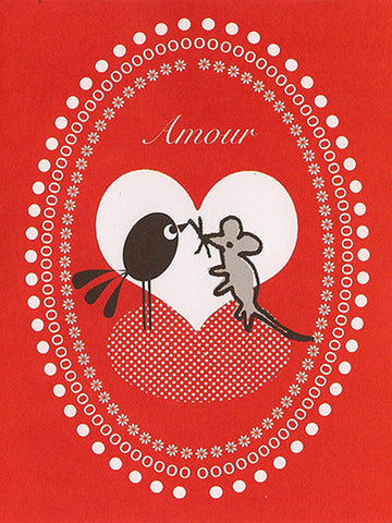 'Amour' Greeting Card