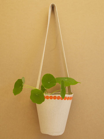 Orange Dot Plant Hanger