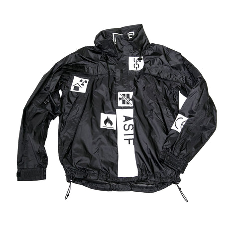 ASIF Gerry Jacket + Backpack Set-Black - ASIF (as seen in the future)