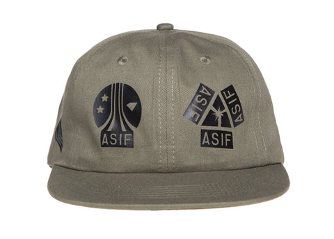 ASIF TWILL MIXED ALL OVER LOGO CAP - ASIF (as seen in the future)