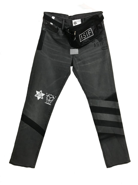 ASIF Black Denim Utility Jean - ASIF (as seen in the future)