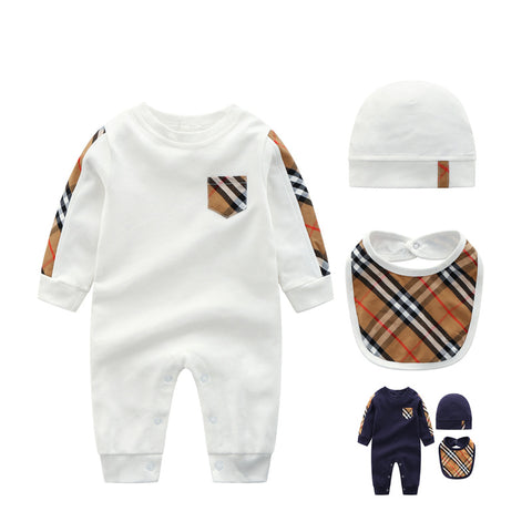 Luxury pajamas baby rompers newborn  long sleeve underwear cotton  boys girls autumn rompers 3-24M