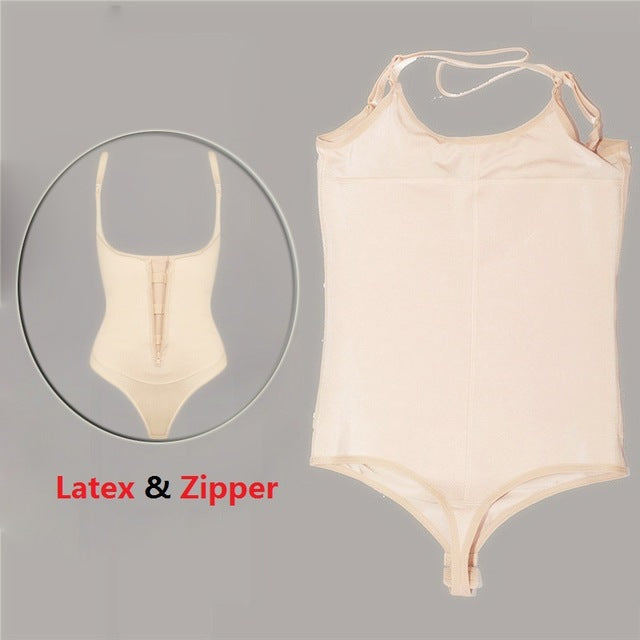 e532c4bf56d24 ... Latex Shaper Bodysuit Women Postpartum Firm Control Thongs Full Body  Briefer Shapewear Model Stap Waist Trainers. Michel Be shop