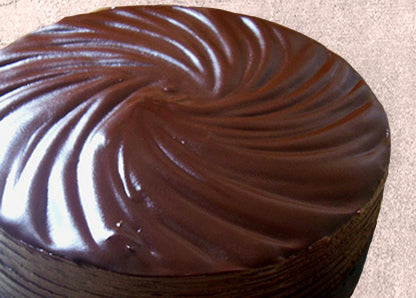 Dark Chocolate Peanut Butter cake with Chocolate Ganache