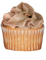 Cinnamon cupcake with cinnamon frosting
