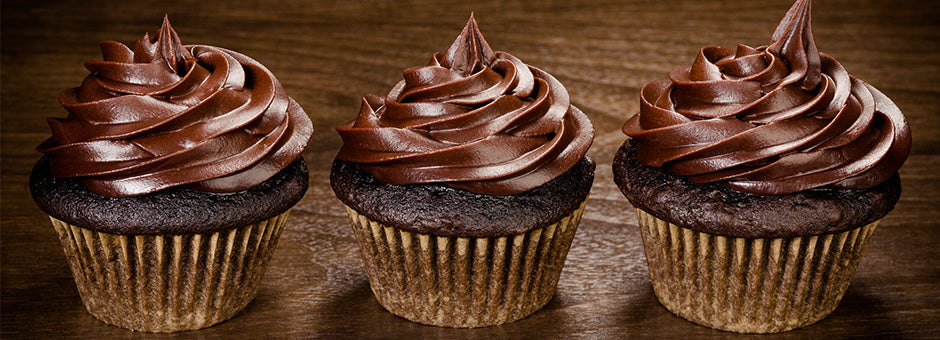 Gourmet Devils Food Cupcakes with Chocolate Frosting