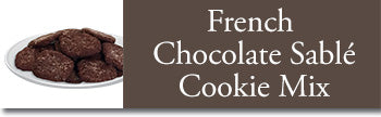 instructions for French Chocolate Sable Cookies