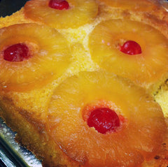 Vanilla Bean Pineapple Upside Down Cake