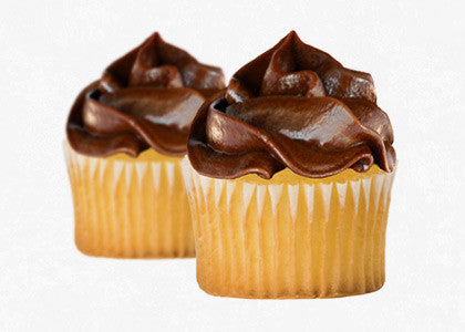 Vanilla Bean cupcake mix with Chocolate Frosting