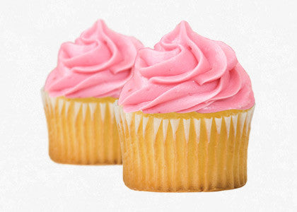 Vanilla Bean Cupcakes with Strawberry Frosting Mix