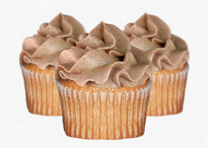 Cinnamon cupcakes with cinnamon frosting
