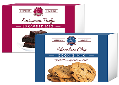 European Fudge Brownie Mix and Sea Salted Chocolate Chip Cookie Mix