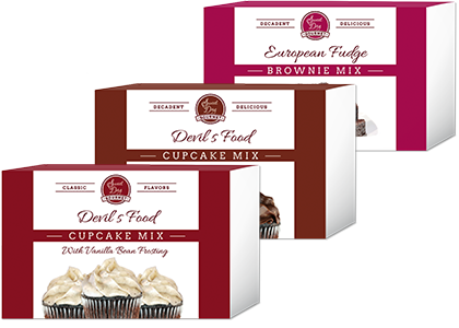 Gourmet gift set - Devils Food Cupcakes and Brownies