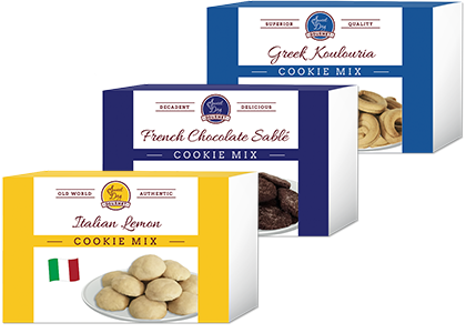 International Cookie Mix Gift Set with Italian Lemon Cookies