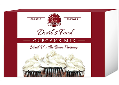 Devil's Food Cupcake and Vanilla Bean Frosting Mix