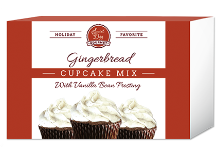 Gingerbread Cupcake Mix with Vanilla Bean Frosting