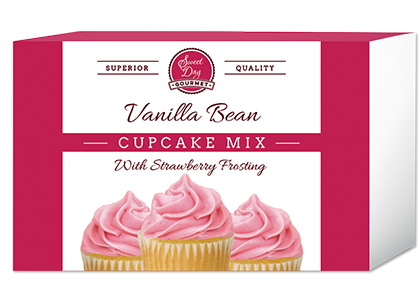Vanilla Bean Cupcake Mix with Strawberry Frosting