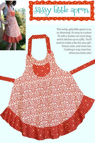 Sassy Little Apron - Printed Pattern