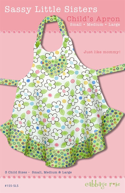 Sassy Little Sisters Apron - Printed Pattern