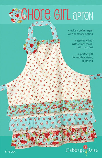 Chore Girl Apron - Printed Pattern