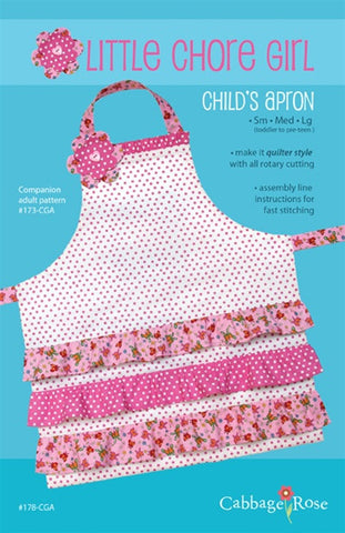 Little Chore Girl Apron - Printed Pattern