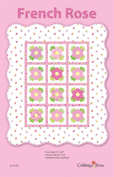 French Rose Applique - Printed Pattern