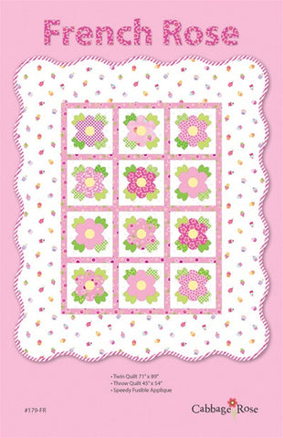 French Rose Applique - downloadable PDF pattern