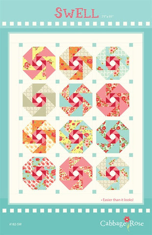 Swell Pieced Quilt - downloadable PDF pattern