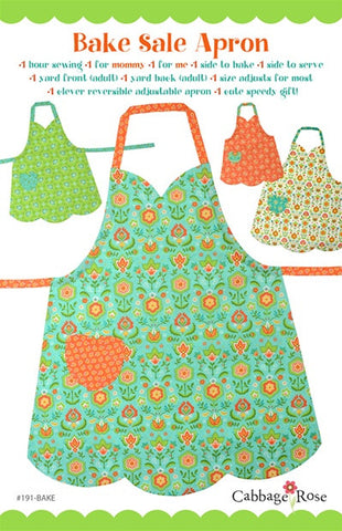 Bake Sale Apron - Printed Pattern - Mommy & Me