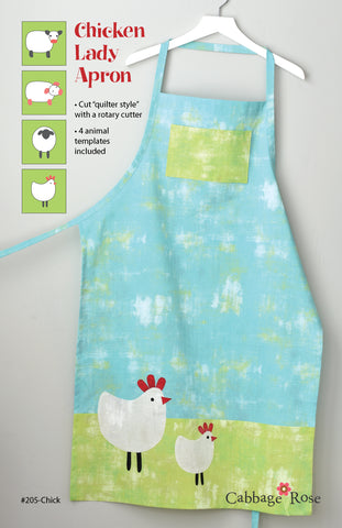 Chicken Lady Apron – Printed Pattern