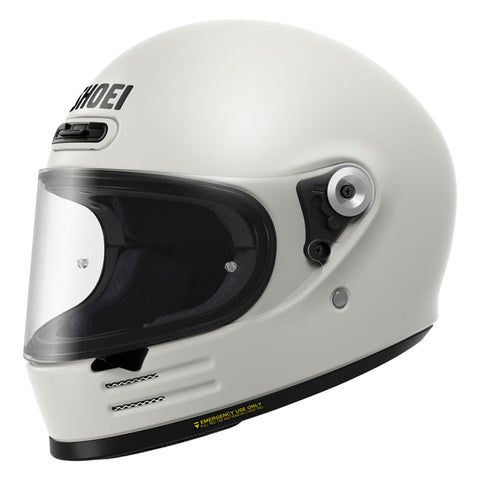 Shoei Glamster Motorcycle Full Face Helmet - Off White