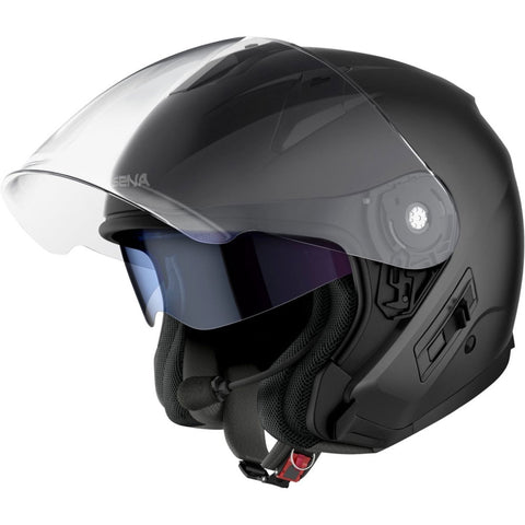 Sena Econo Motorcycle Open Face Helmet - Matte Black